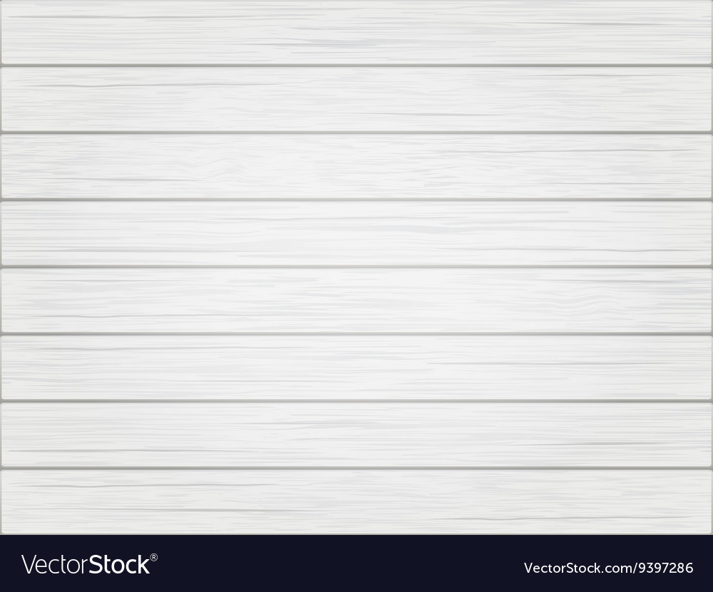 Wooden white vintage background vector image