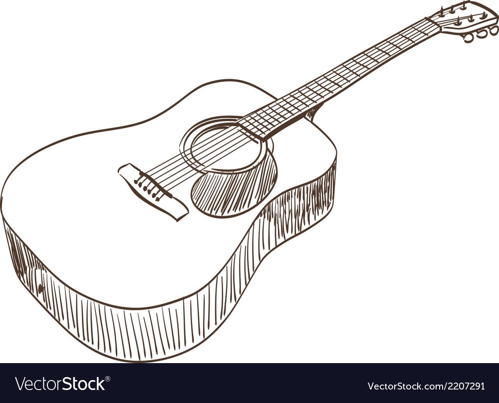 Картинки гитара карандашом