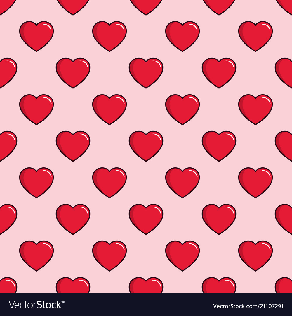 Hearts seamless pattern background can be used vector image