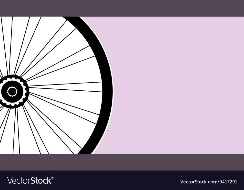 Silhouette of a bicycle wheel with tyre and