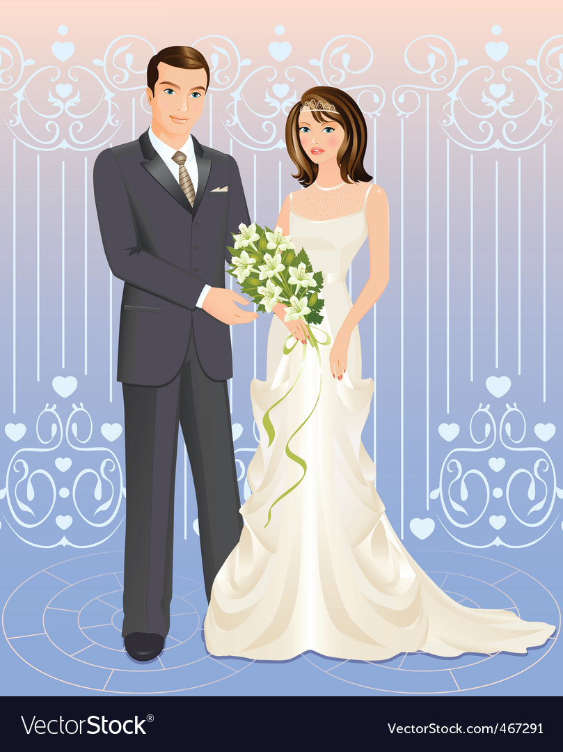 Wedding Couple Royalty Free Vector Image Vectorstock