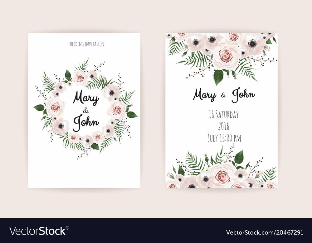 Wedding Invitation Modern Card Design Royalty Free Vector
