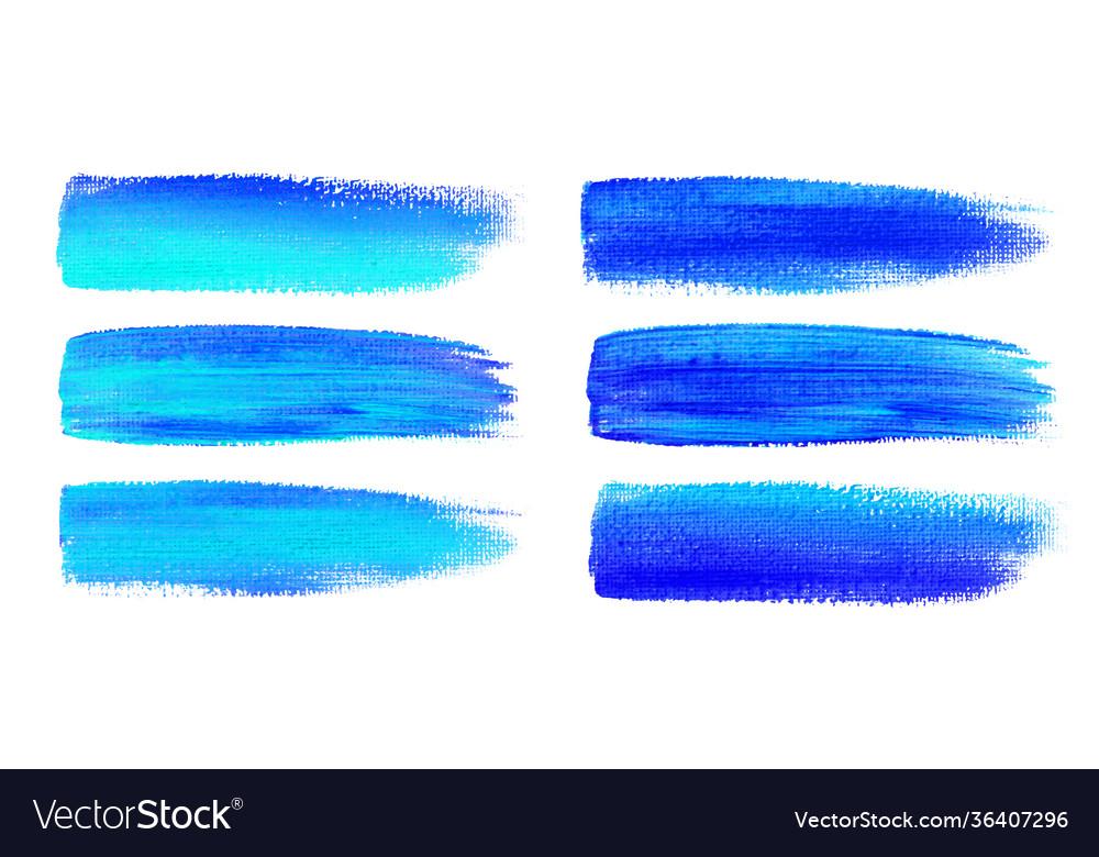 Blue watercolor brush strokes canvas texture