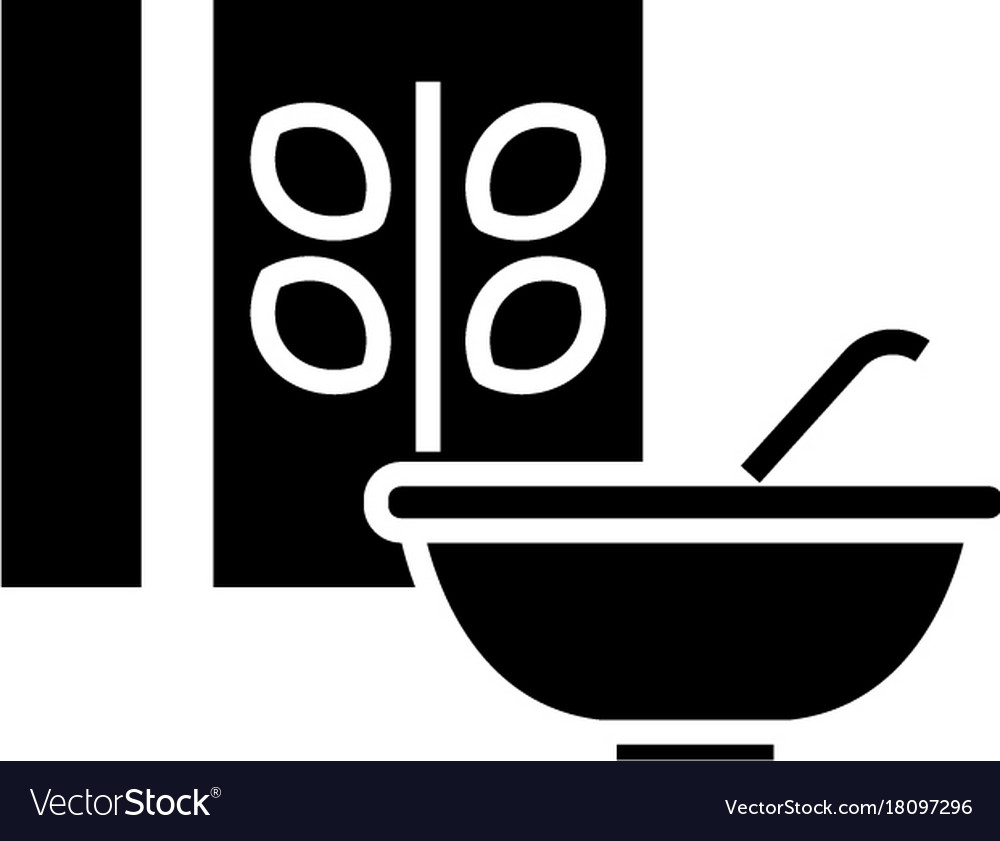 Cereal - porridge bowl and box icon vector image