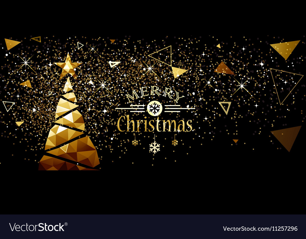 Christmas gold tree new year design