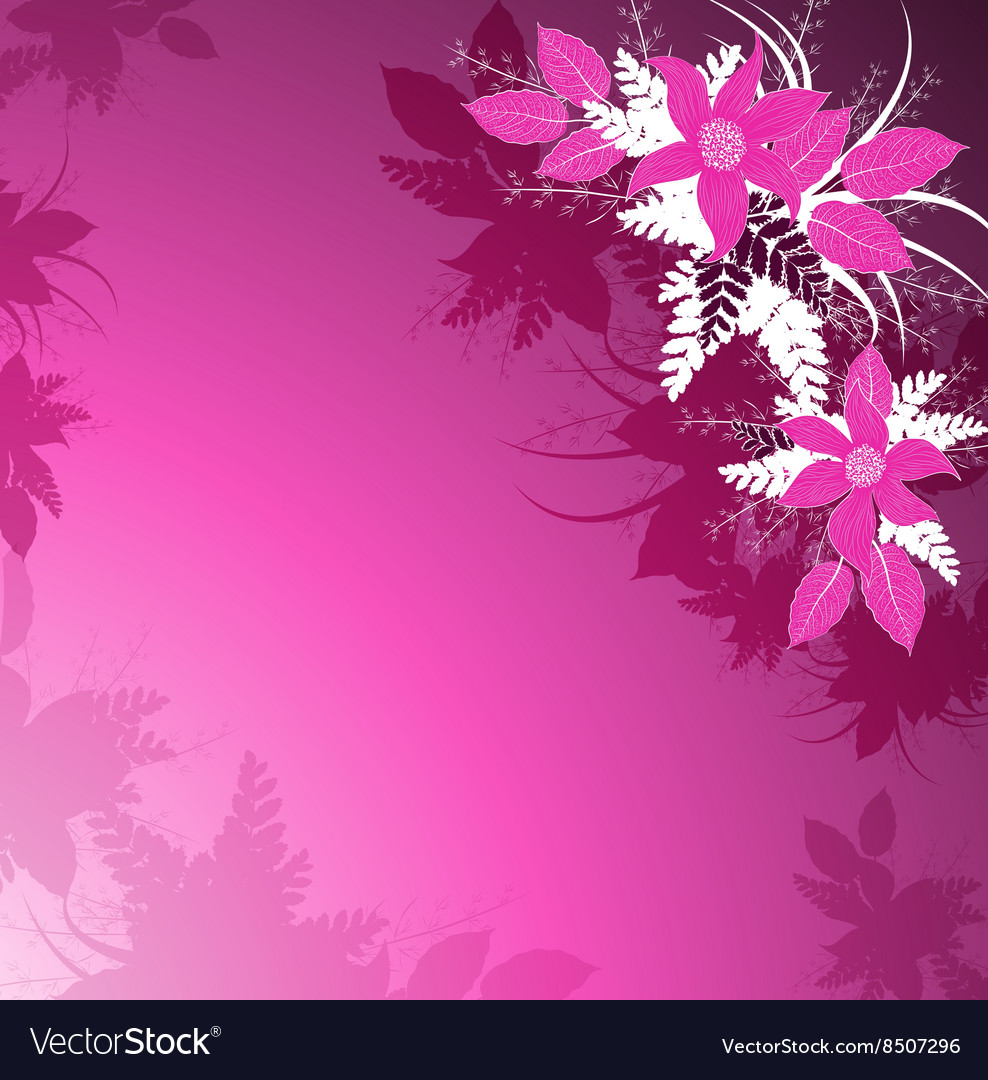Decorative Pink Floral Background Royalty Free Vector Image