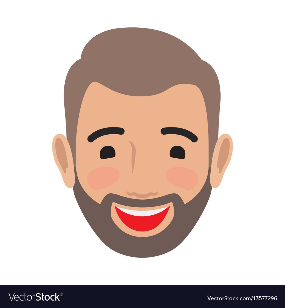Emotion avatar man happy successful face