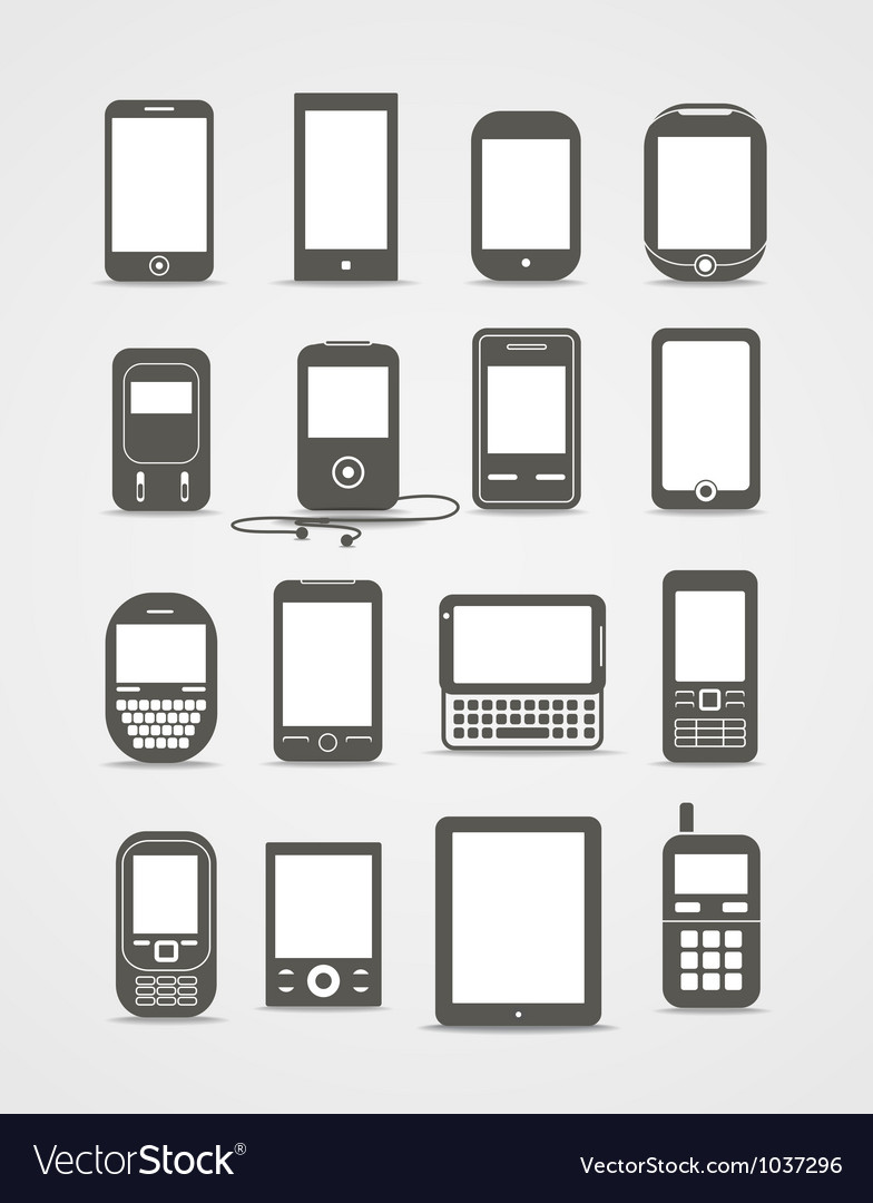 Modern and vintage mobile gadgets