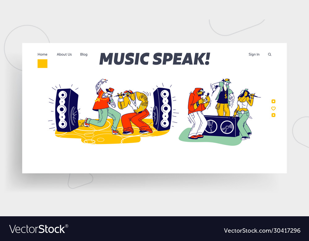 Stylish characters modern musicians performing