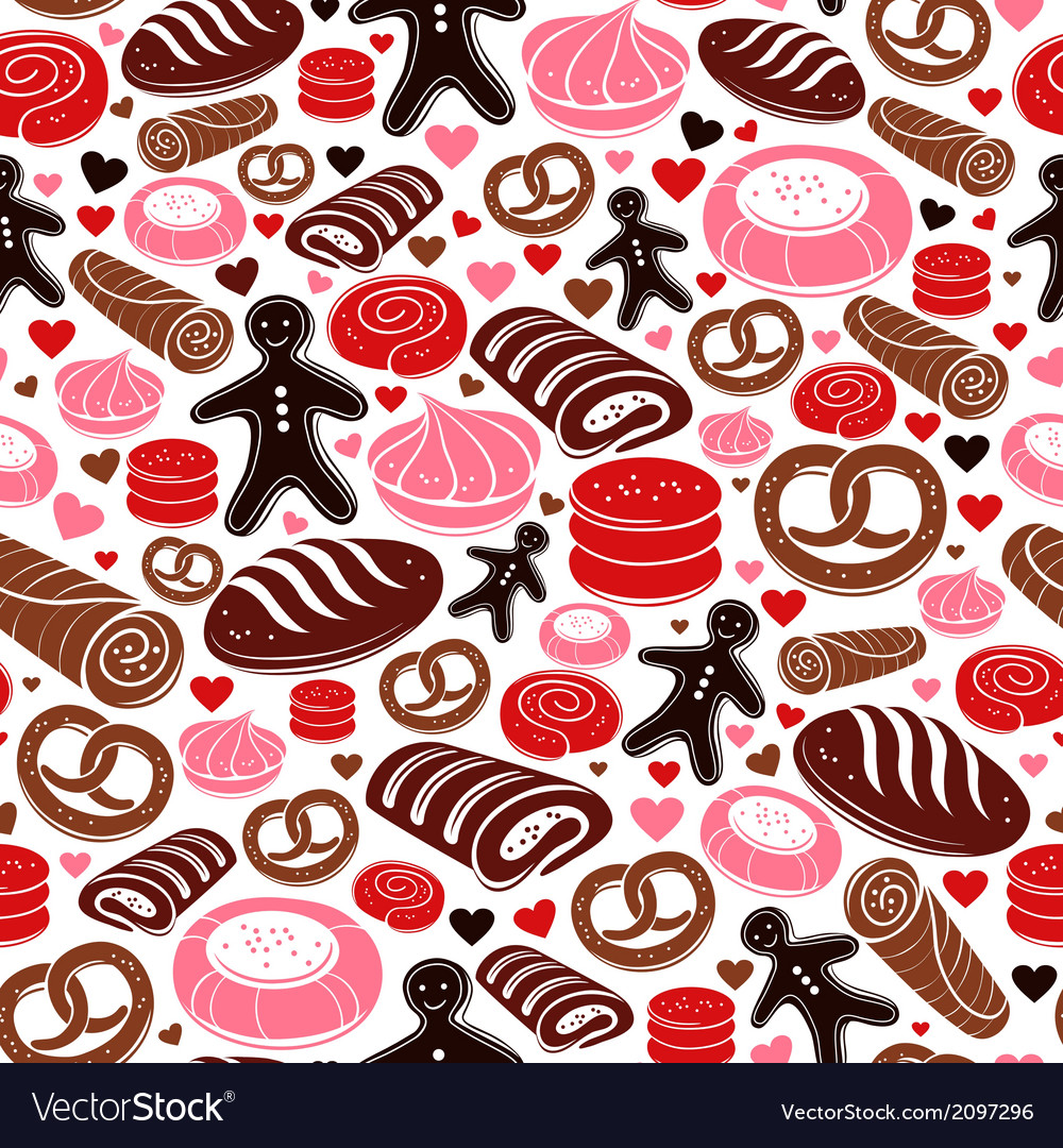 Sweet bakery seamless pattern