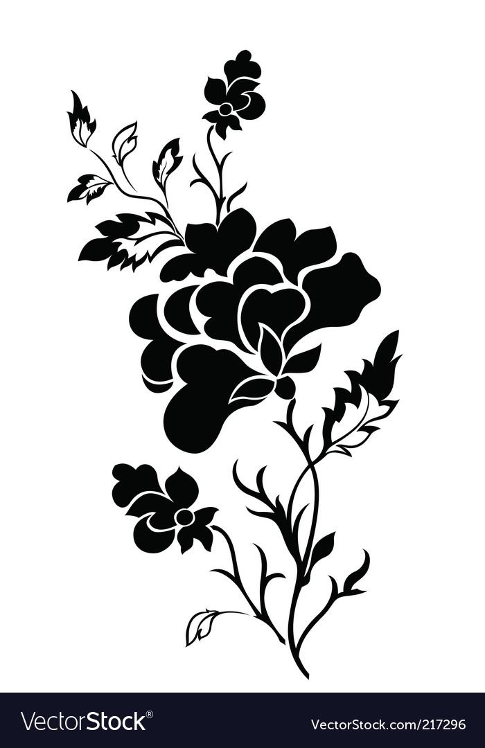 flower pattern tattoo. Vertical Flower Pattern Rose