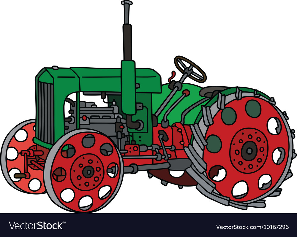 Vintage green tractor