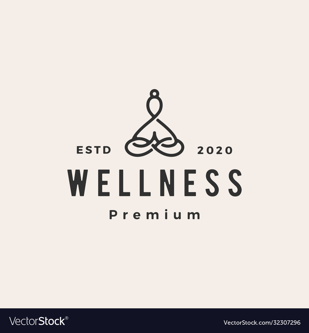 Yoga wellness hipster vintage logo icon