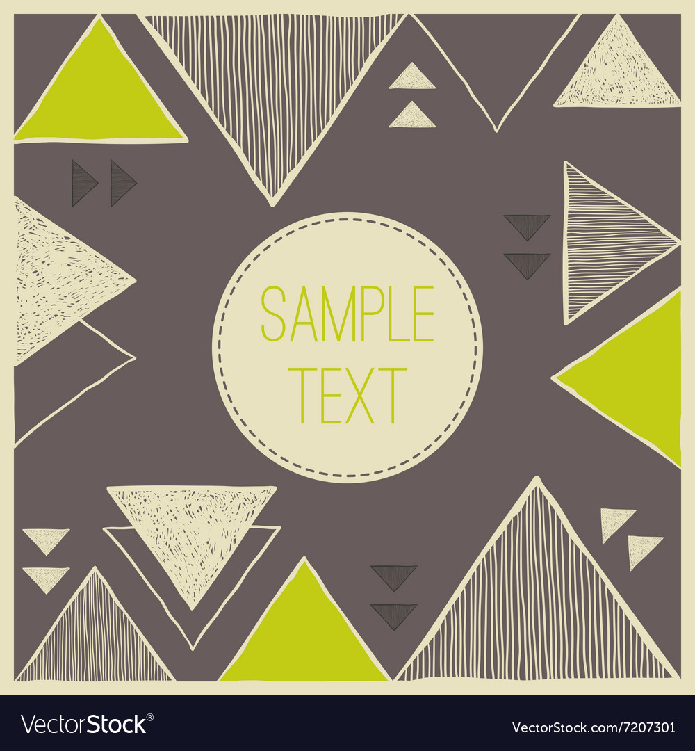 Abstract hand drawn triangle background Tribal