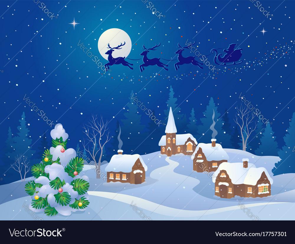 Christmas Scene.Christmas Night Scene