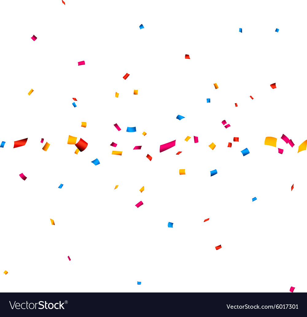 confetti celebration banner royalty free vector image
