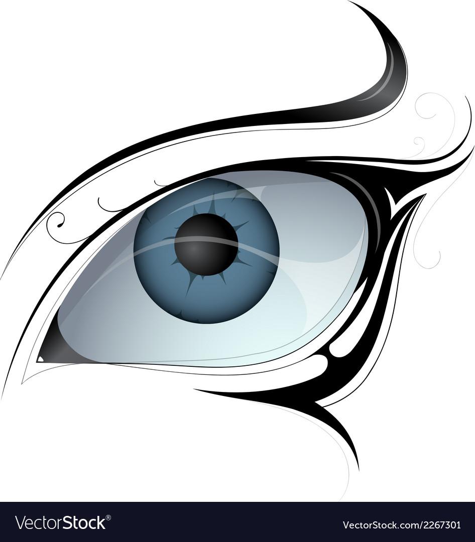 Female eye tattoo