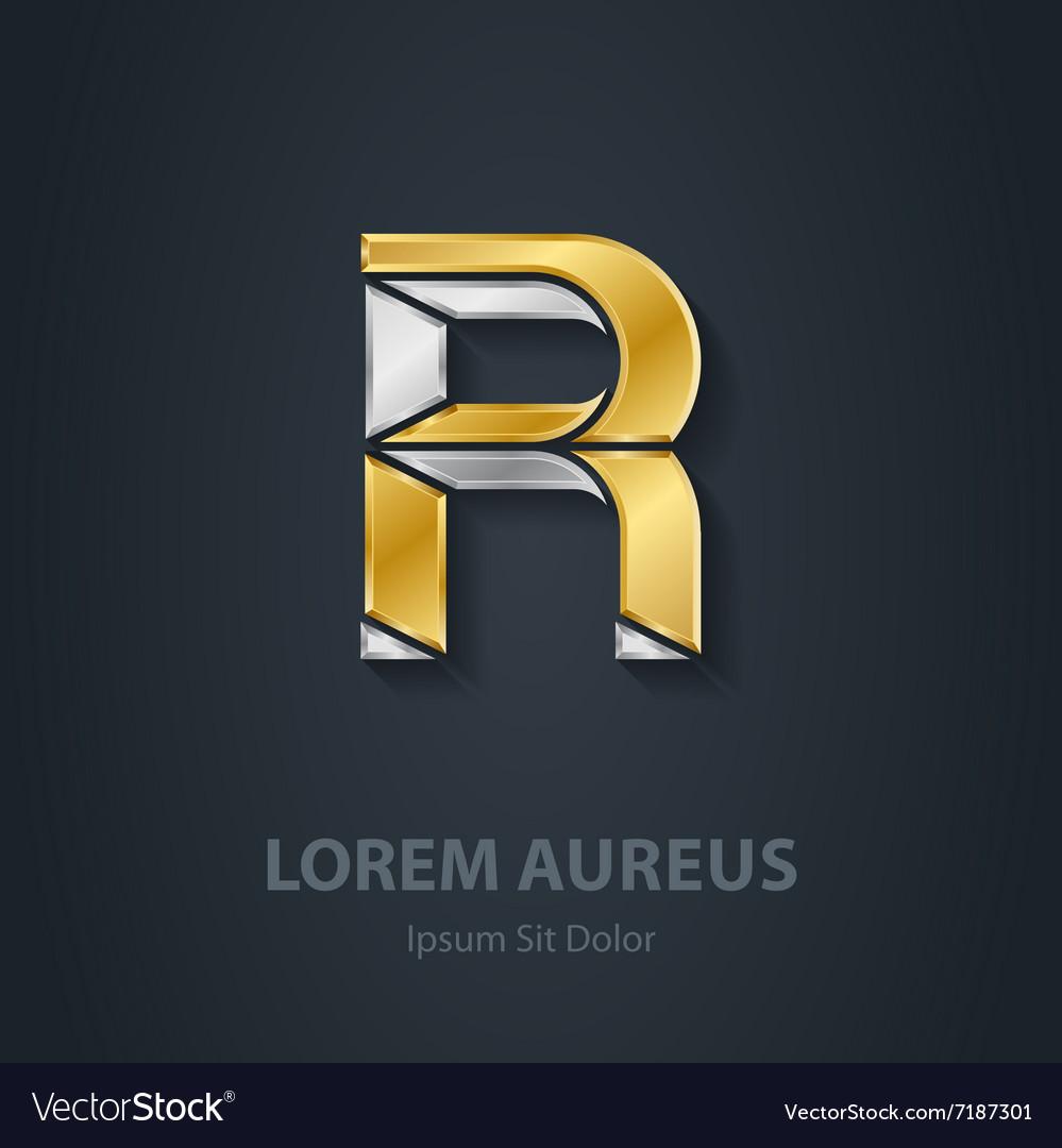 Letter R Template for company logo 3d Design