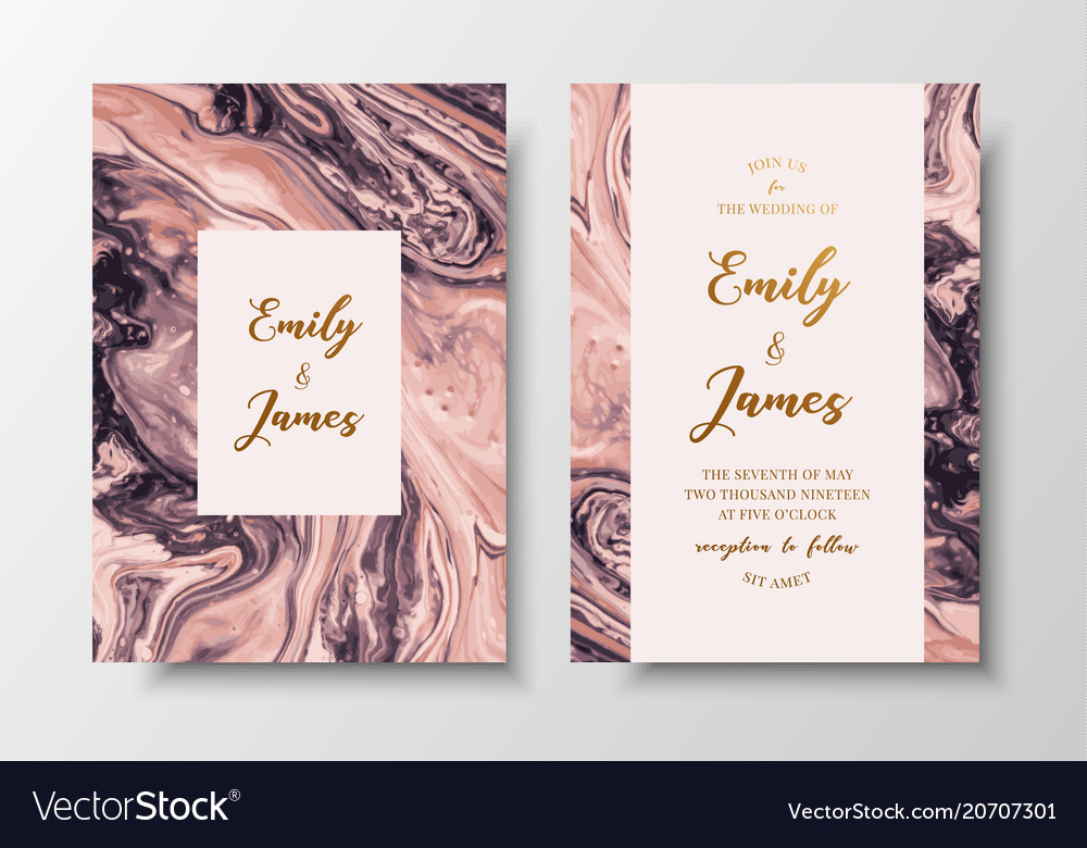 Modern design wedding invitation liquid