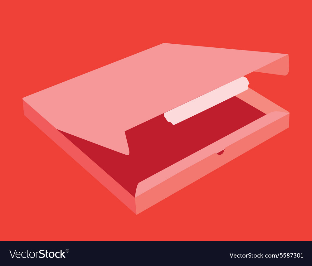 Pizza Box template mock up vector image