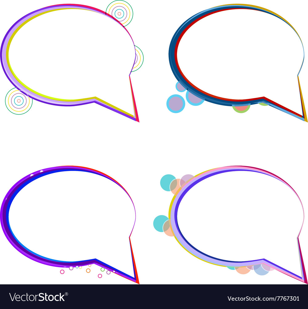 Set cloudy thought vector image