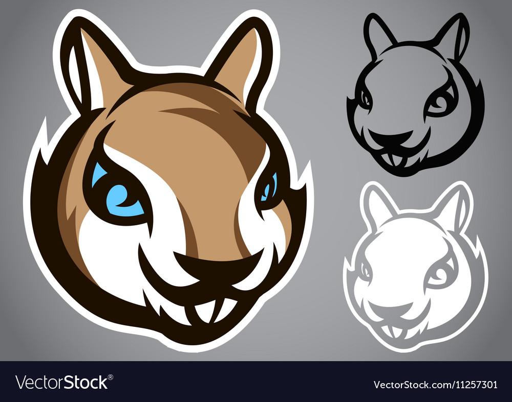 Squirrel head gray logo emblem