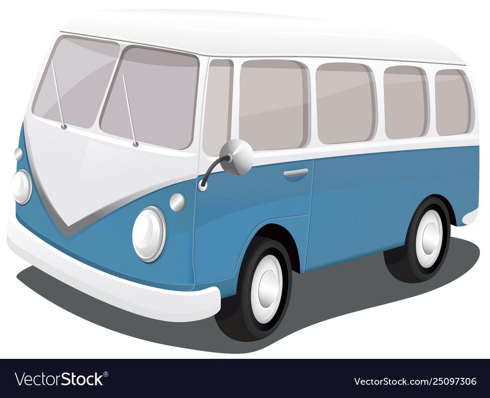 A blue vintage van