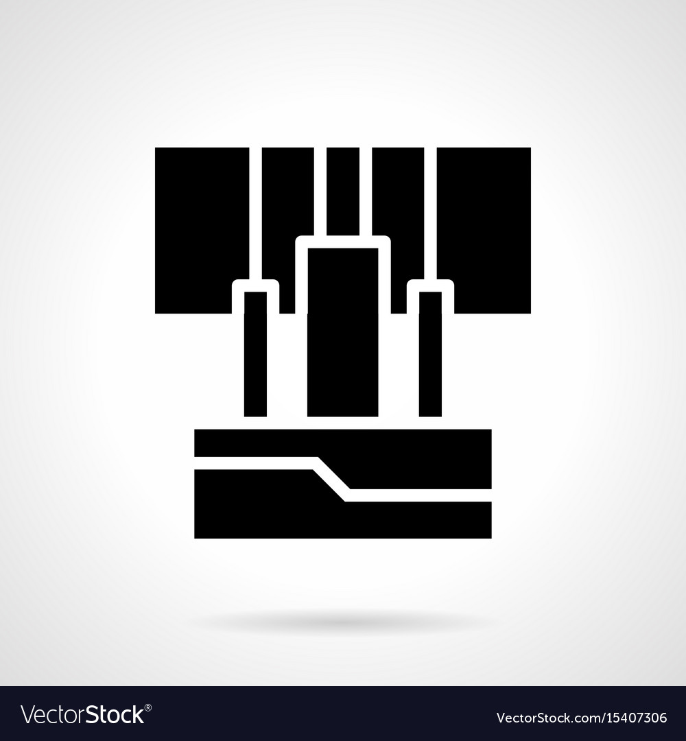 Amplifier input wires glyph style icon vector image
