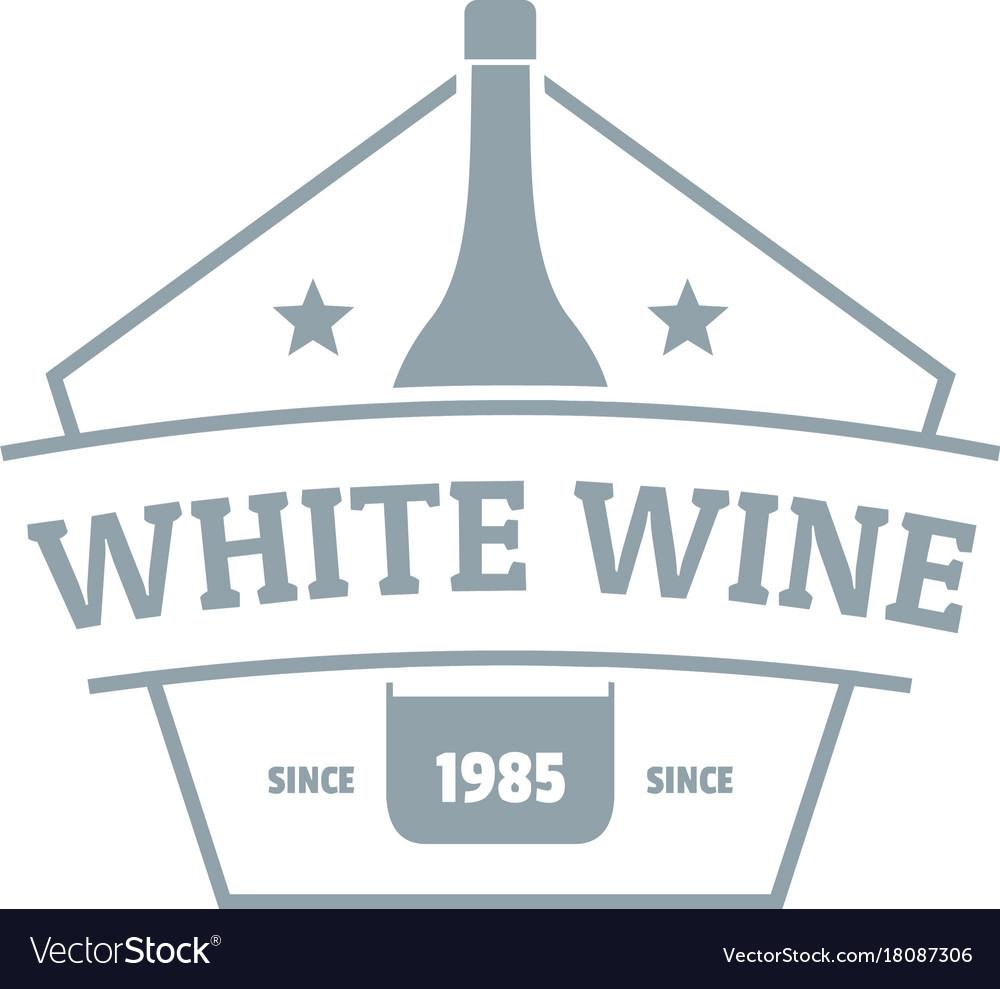 Bottle wine logo simple gray style vector image