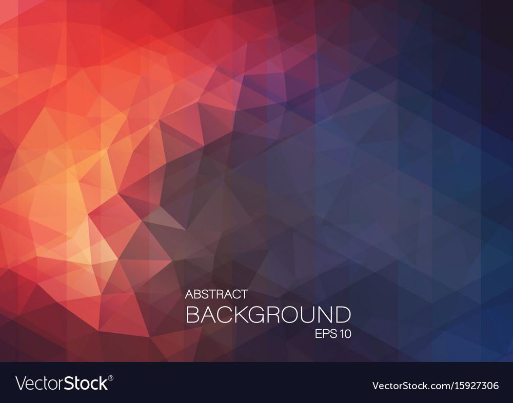 Flat retro triangle background of geometric shapes