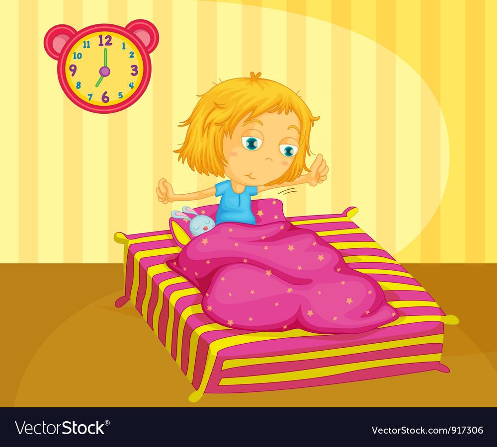 Girl waking vector image