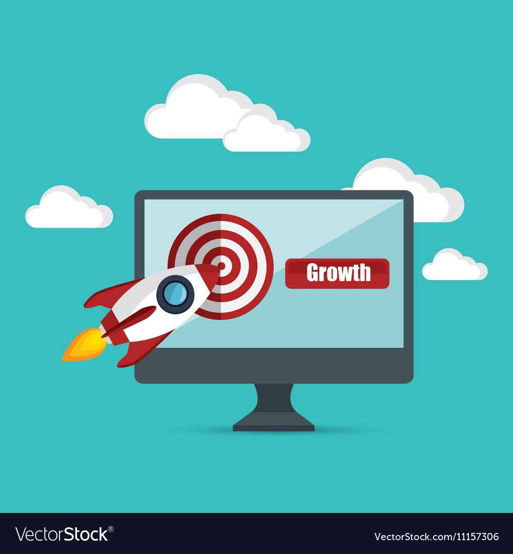 Growth business concept star up target