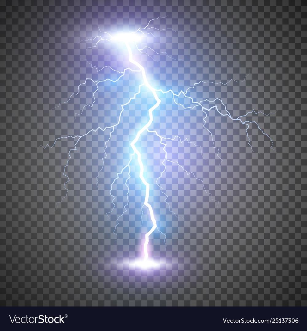 Lightning flash bolt or thunderbolt blue