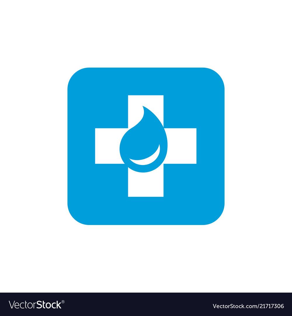 Medicine or first aid medical logo design