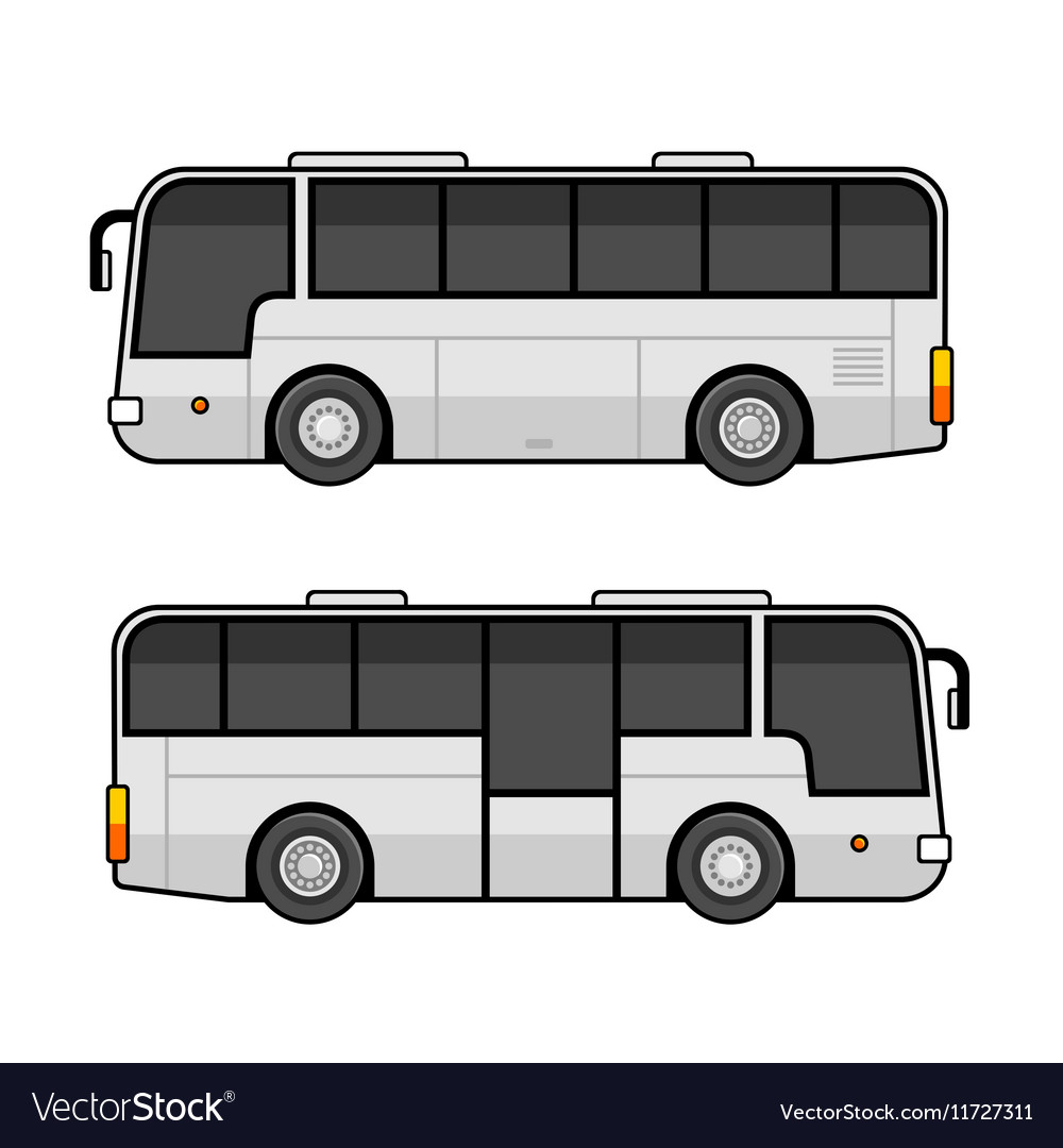 Bus Template Set on White Background