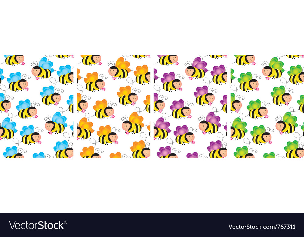 Buzzy bee wallpaper vector image
