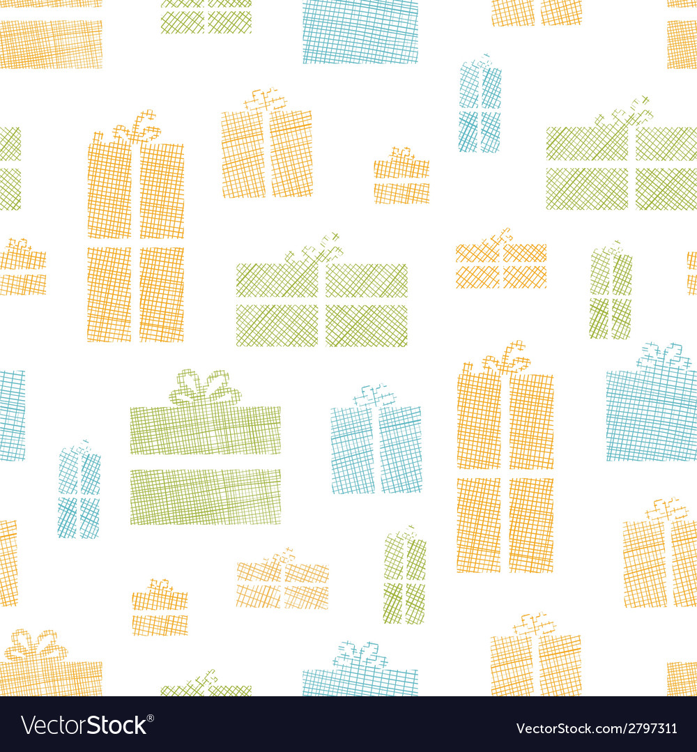 Colorful gift boxes textile texture seamless