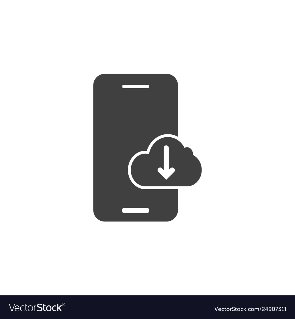 Database server download icon element of