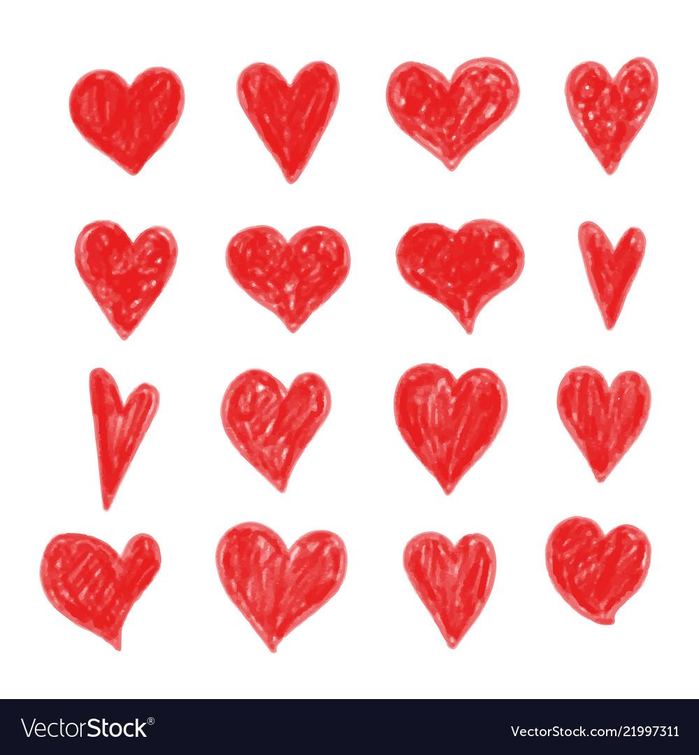 Hand draw heart icon