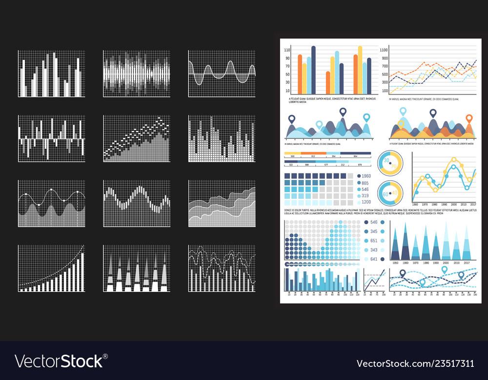 Infographic visual representation of data chart