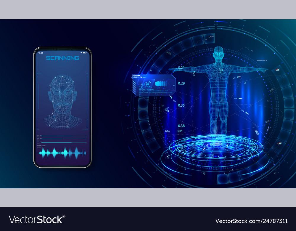 Robot biometric identification hud style
