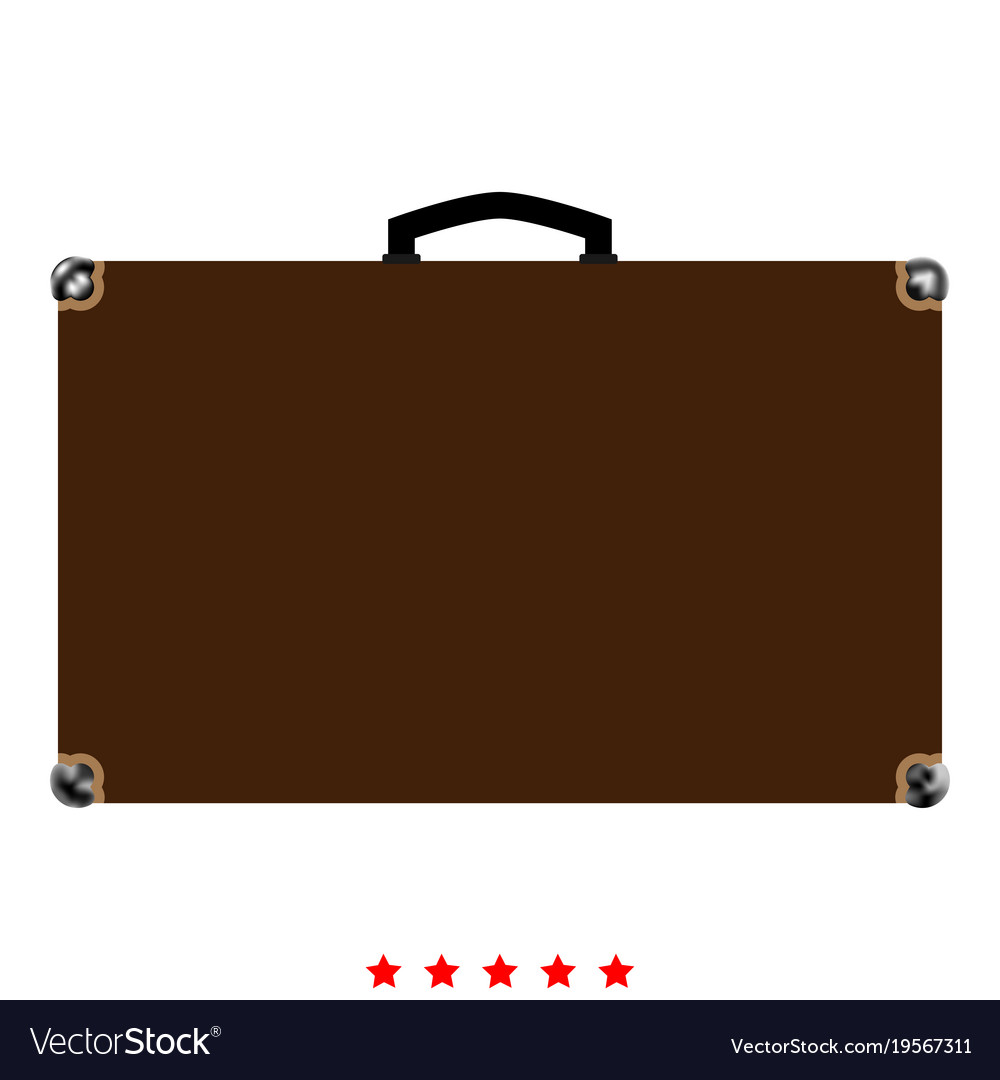 Suitcase icon color fill style