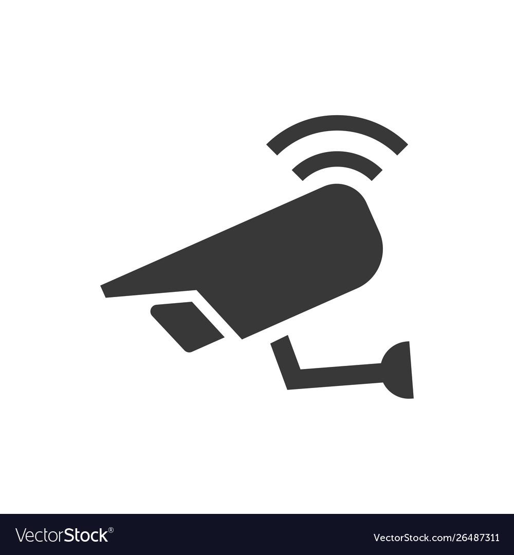 Wireless security camera icon