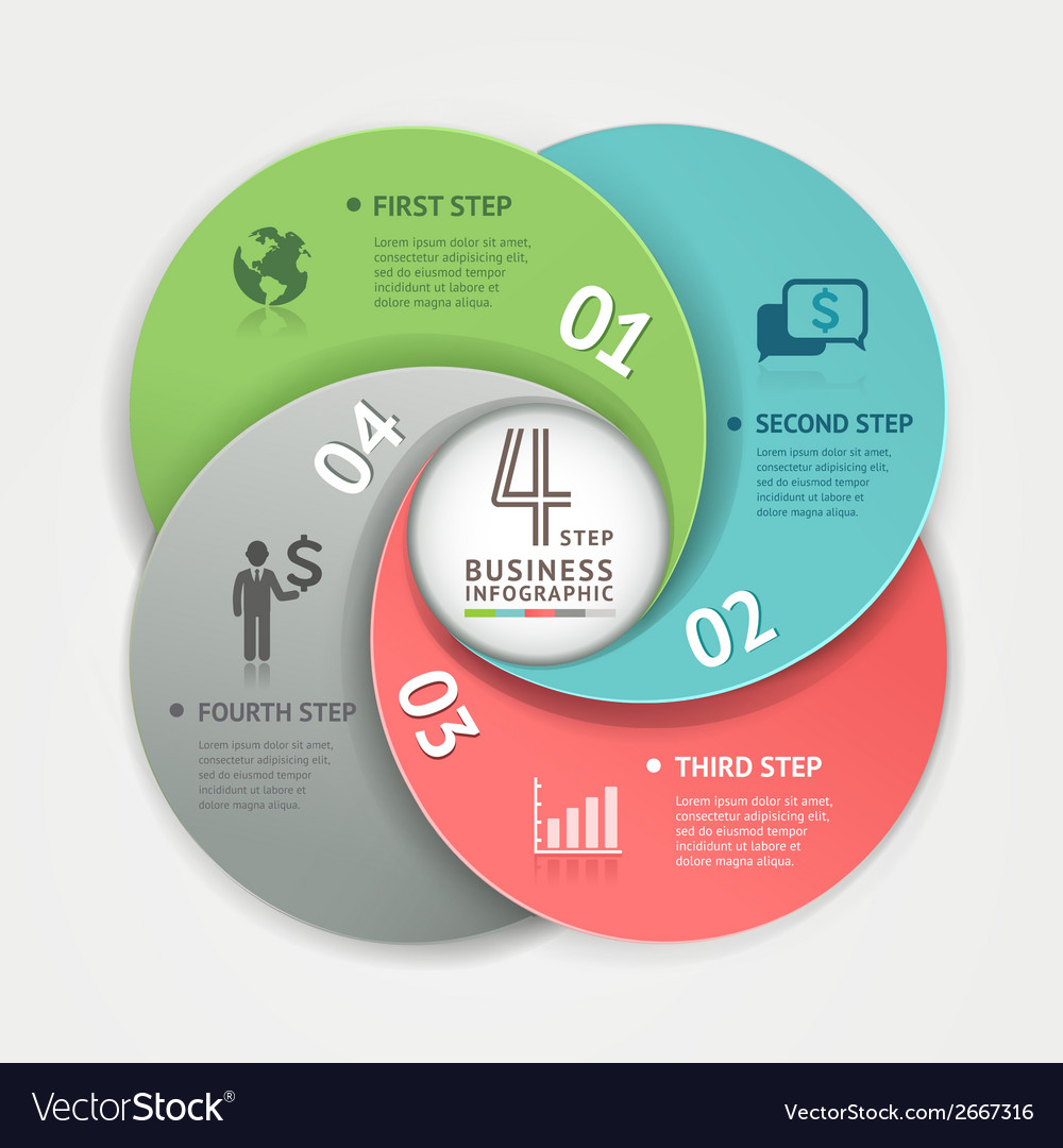 Abstract business circle Infographics origami