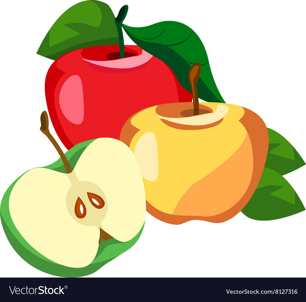 Apple whole and pieces