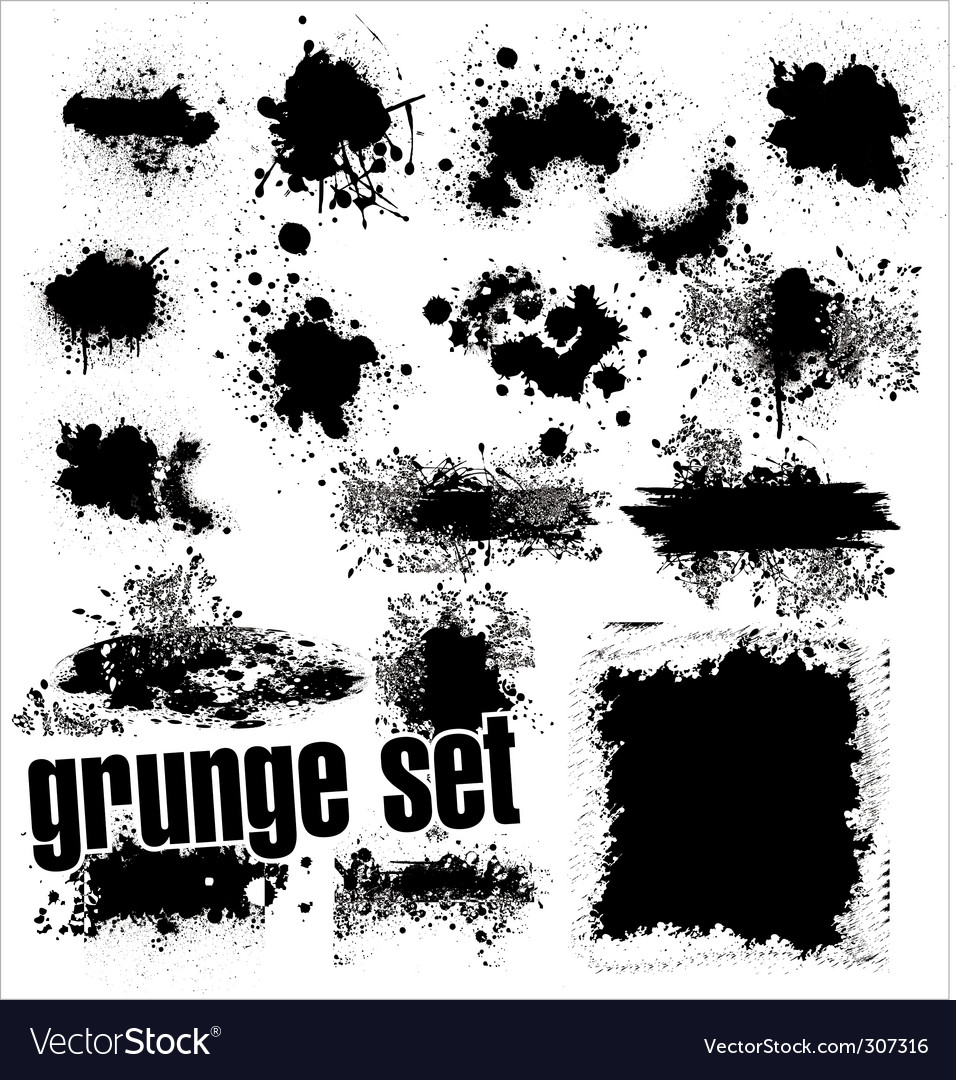 Grunge splashes set