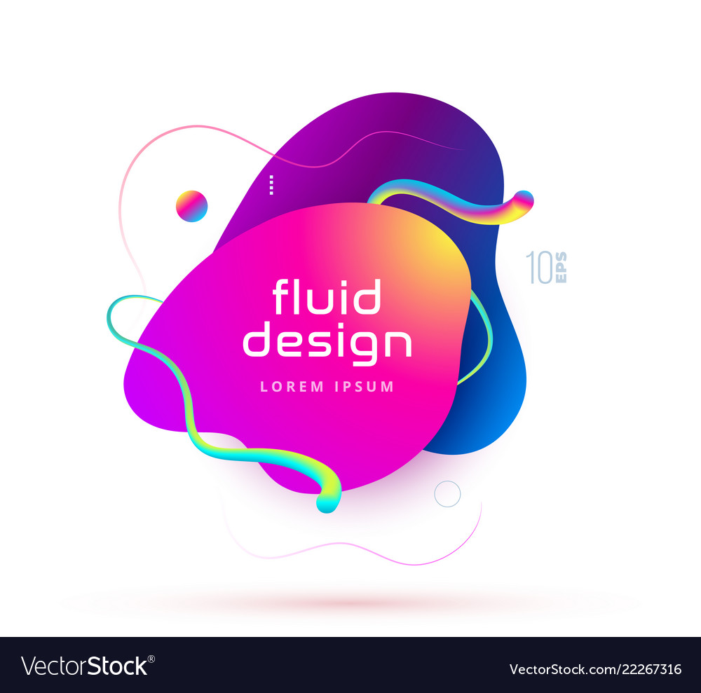 Organic design of liquid color abstract geometric