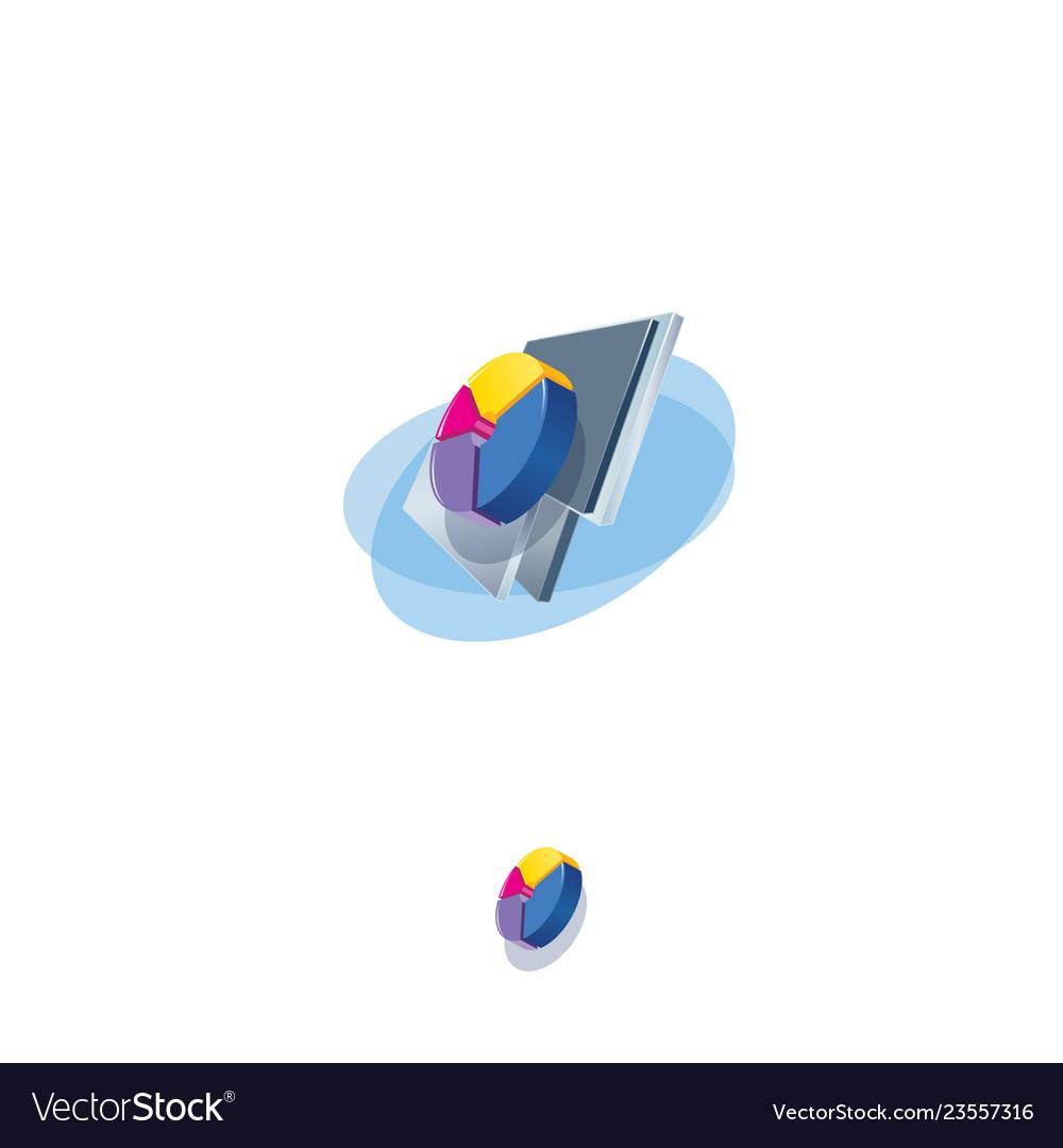 Pie chart icon info graphics business symbol