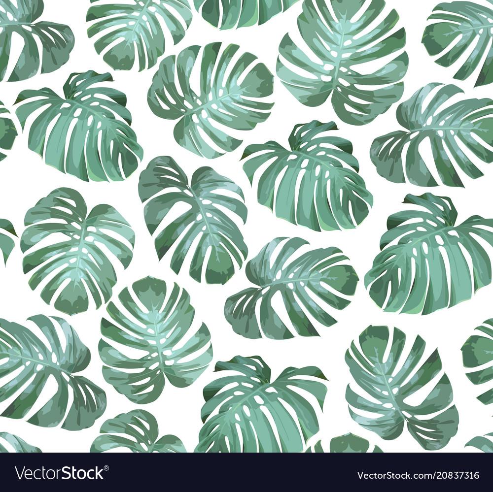 Tropical seamless pattern monstera