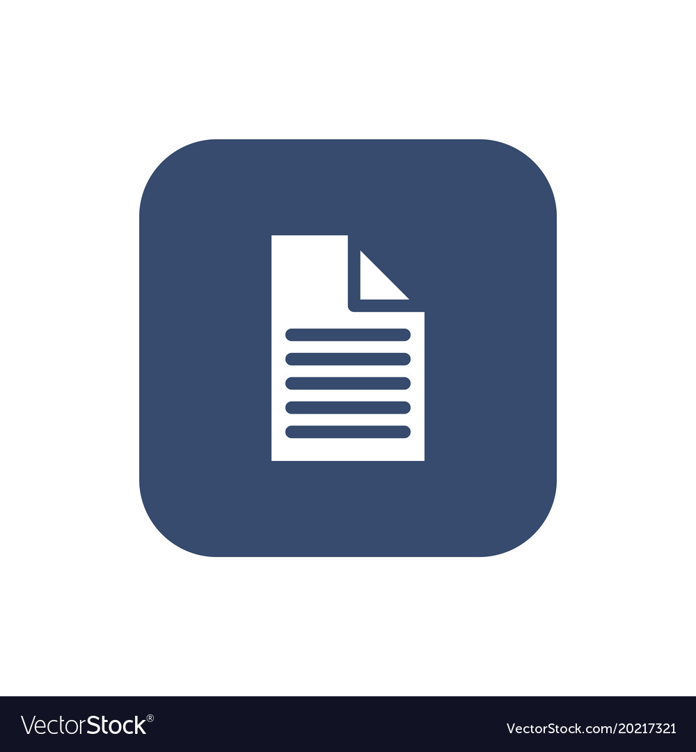 A piece of paper icon flat design